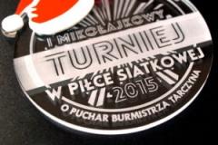 Medal z pleki na zawody w piłce siatkowej,  dodatkowo kolorowy laminat