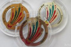 Medal z pleksi na turniej badmintona.