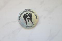 Medal metalowy, z indywidualnym nadrukiem, na turniej kickboxingu
