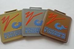 Medal metalowy na turniej taekwondo, w trzech kolorach