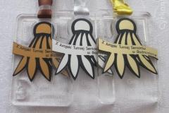Medal pod projekt, materiał pleksi, na turniej badmintona