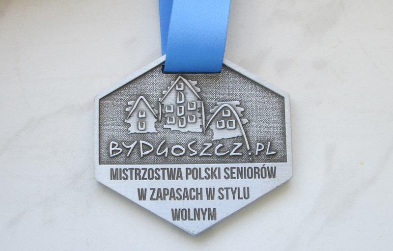 Medal odlewany, na turniej zapaśniczy