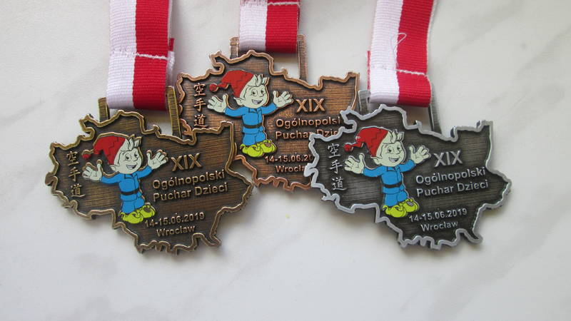 Medale niestandardowe, z kolorowym nadrukiem
