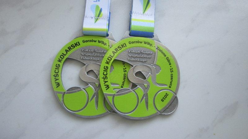 Medal odlewany, na zawody kolarskie