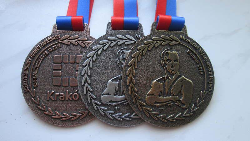 Medal odlewany, dla zapaśników