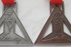Medale odlewane, ażurowe, na turniej karate