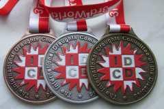 Medale odlewane na turniej szachowy, wzbogacone kolorowym nadrukiem