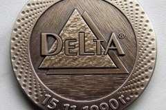 Medal wykonany z mosiądzu na jubileusz firmy