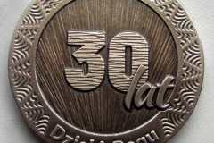 Medal z mosiądzu, srednica 5 cm
