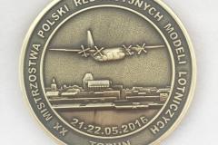 Medal dwustronny, na zawody modelarskie
